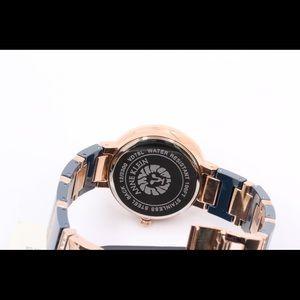 Anne Klein Accessories - Anne Klein Rose Gold Navy Crystal Watch Stainless